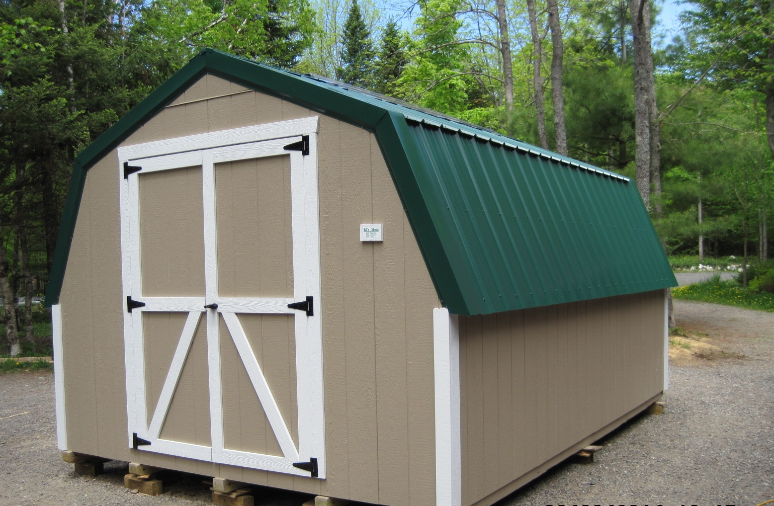Gambrel sheds ed 39 s sheds for Gambrel roof metal building